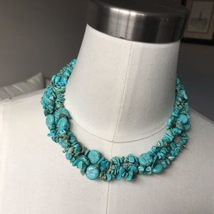 3 strand turquoise necklace 🦋